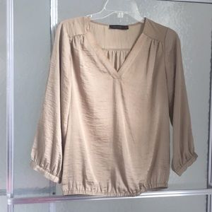 Gold colored blouse size small